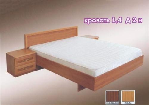 Кровать 1.4 д2н - фото 124434