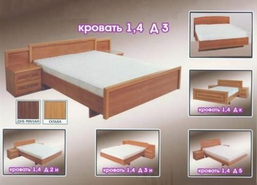 Кровать 1.4 д3