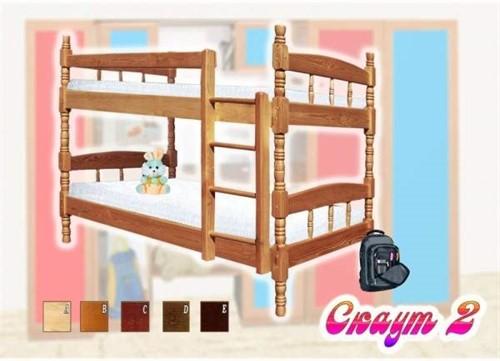 Кровать Скаут 2(1+1) разб. - фото 124449