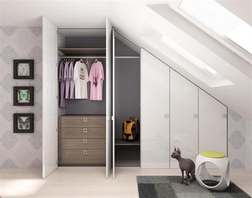 Встраиваемый шкаф для мансарды №1